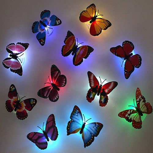 5pcs! Beautiful Luminous butterfly led sticker - IsleOfGifts