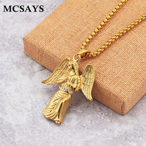 Gold Plated Pendant Necklace - IsleOfGifts