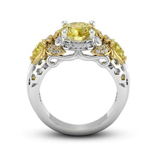 Load image into Gallery viewer, Queen Bee Yellow CZ Ring - IsleOfGifts