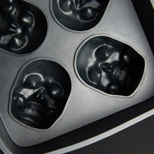 Load image into Gallery viewer, 3D Skull Flexible Silicone Ice Cube Mold Tray - IsleOfGifts