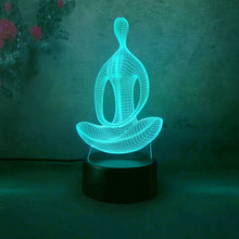 Load image into Gallery viewer, Yoga 3D LED night light with changing colors for home Decoration