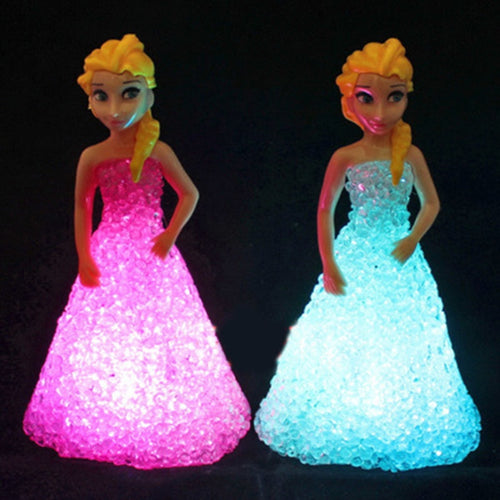 Kids Toys: Elsa/ Anna LED Colorful Lights gradient crystal Night Light - IsleOfGifts