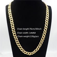Load image into Gallery viewer, Men's Iced Out Miami Curb Cuban Gold Chain(14 mm wide/60, 65, 70, 75, 90 cm long) - IsleOfGifts