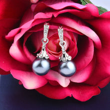 Load image into Gallery viewer, Luxury White & Gray Simulated Pearl Earrings - IsleOfGifts