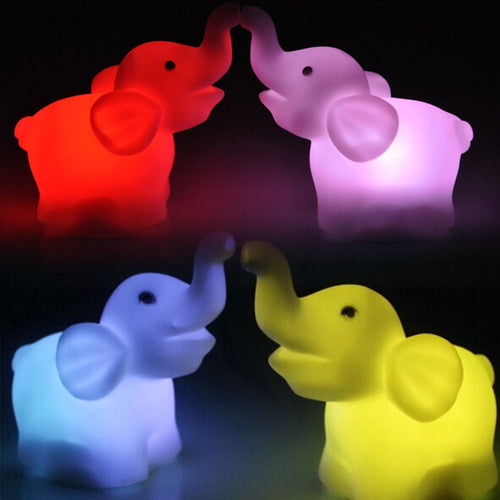 Cute Elephant Shape Color Changing LED Night Light - IsleOfGifts