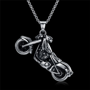 Stainless Steel Motorcycle Necklaces - IsleOfGifts