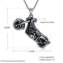 Load image into Gallery viewer, Stainless Steel Motorcycle Necklaces - IsleOfGifts