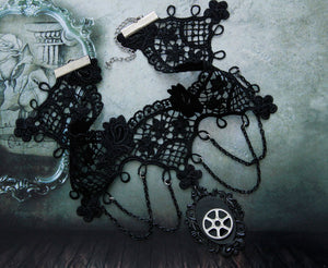 Black Lace Necklaces - IsleOfGifts