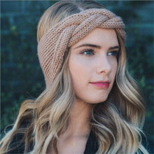 Load image into Gallery viewer, New Winter Braided Wool Warm Turban Headband - IsleOfGifts
