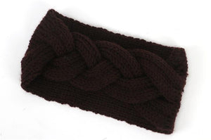 New Winter Braided Wool Warm Turban Headband - IsleOfGifts