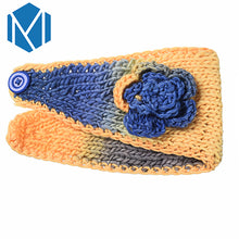 Load image into Gallery viewer, Winter Women Floral Knitted Fabric Turban Headband
