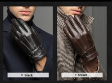 Load image into Gallery viewer, Spring/Winter Real Leather Touched Screen Glove for Man - IsleOfGifts