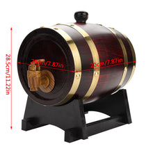 Load image into Gallery viewer, 1.5L Vintage Wood Oak Timber Wine Barrel - IsleOfGifts