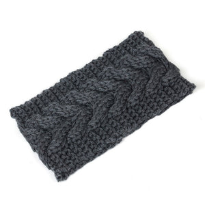 Winter Solid Wide Knitted Wool Headband
