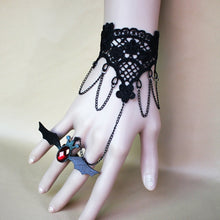 Load image into Gallery viewer, Charming Gem Black Bat Lace Bracelet - IsleOfGifts