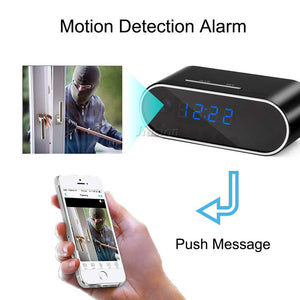 Spy WiFi Table Clock Mini Camera (1080P HD)