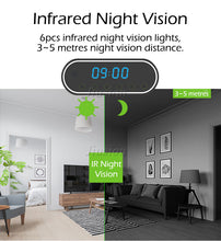 Load image into Gallery viewer, Spy WiFi Table Clock Mini Camera (1080P HD)