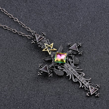 Load image into Gallery viewer, Vintage Large Gothic Cross Necklace - IsleOfGifts