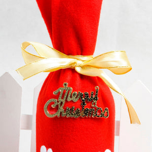 Red Wine Bottle Cover for Christmas gift - IsleOfGifts