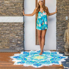 Load image into Gallery viewer, Lotus Yoga Mat /Beach Towel - IsleOfGifts