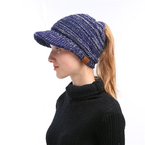 Fancy Ponytail Beanies Winter Hats 2018 - IsleOfGifts