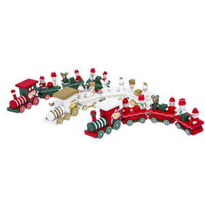 New Arrival 21x4.5cm Christmas Decorations Woods Small Train Children - IsleOfGifts