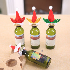 Christmas Santa Claus Wine Bottle Cover Table Decor - IsleOfGifts