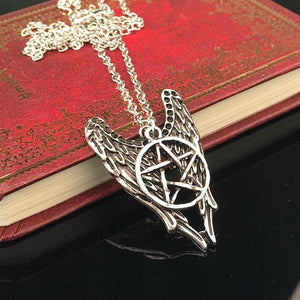 Angel Pentagram Amulet Winchester Inspire Super Natural Pendant - IsleOfGifts