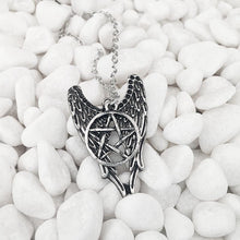 Load image into Gallery viewer, Angel Pentagram Amulet Winchester Inspire Super Natural Pendant - IsleOfGifts