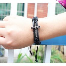 Load image into Gallery viewer, Cross Wrap Wrist Bracelet - IsleOfGifts