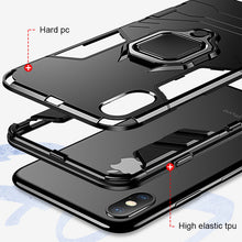Load image into Gallery viewer, Luxury Armor Holder Ring Case For IPhone X XR XS - IsleOfGifts