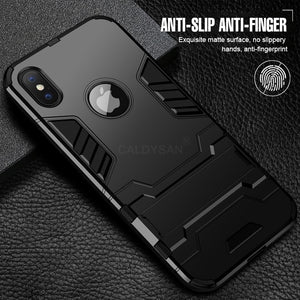 Luxury Armor Phone Stand Case For iPhone X XR XS - IsleOfGifts