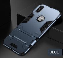 Load image into Gallery viewer, Luxury Armor Phone Stand Case For iPhone X XR XS - IsleOfGifts