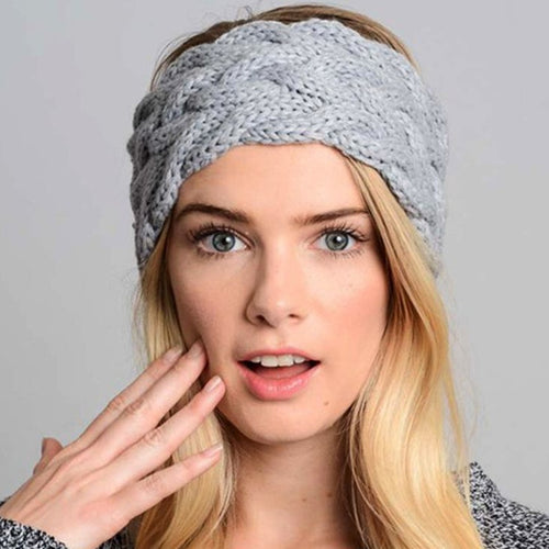 Winter Women Ear Warmer Widening Wool Hair Bands