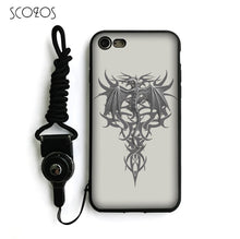 Load image into Gallery viewer, Gothic Skull Tattoo Silicone Soft Cover Case  For IPhone X 5 5S Se 6 6S 7 8 6 Plus 6S Plus 7 Plus 8 Plus #nb136 - IsleOfGifts