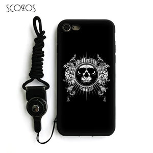 Gothic Skull Tattoo Silicone Soft Cover Case  For IPhone X 5 5S Se 6 6S 7 8 6 Plus 6S Plus 7 Plus 8 Plus #nb136 - IsleOfGifts