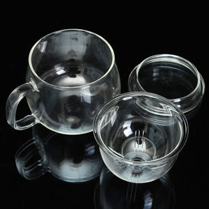 11oz Tea for Me Glass Tea Cup w/ Infuser