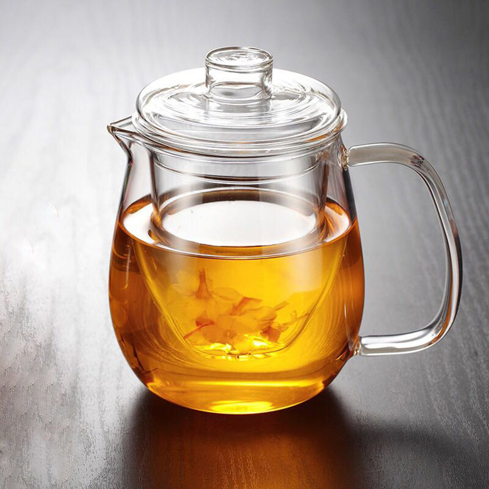 16oz Glass Tea Pot w/ Removable Infuser