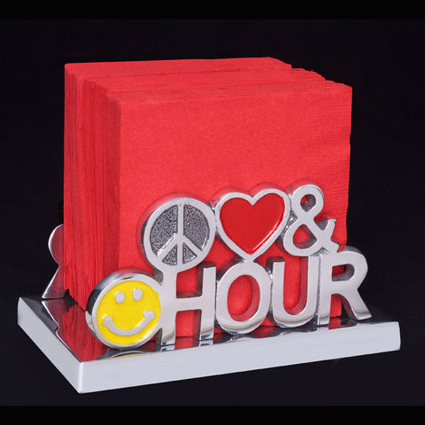 Inspired Generations Peace, Love & Happy Hour Napkin Holder
