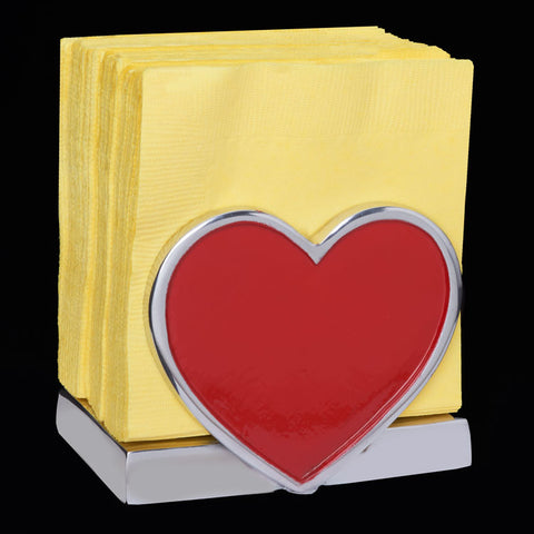 Inspired Generations Red Heart Napkin Holder