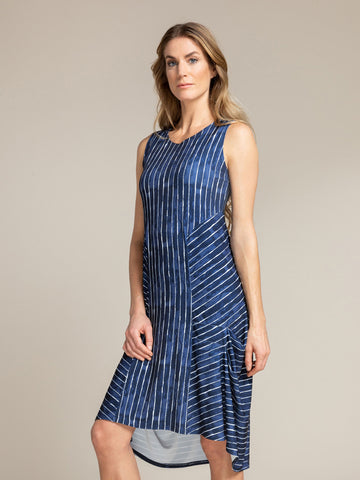 Sympli Sleeveless Tuck Dress, Pattern