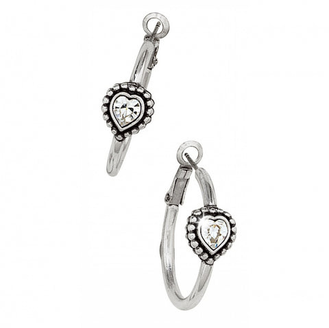 Brighton Shimmer Heart Small Hoop Earrings