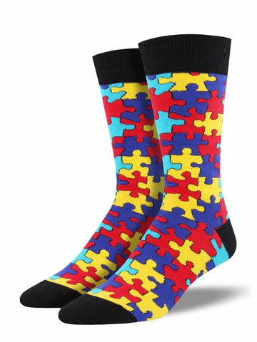 Men's Puzzled Graphic Socks