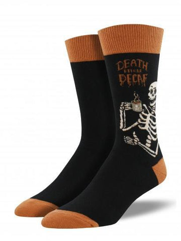 Men's Death Before Decaf Graphic Socks