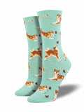 Ladies Shiba Inu Graphic Socks