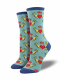 Ladies Claddagh Graphic Socks
