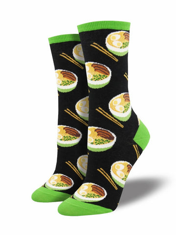 Ladies Use Your Noodle Graphic Socks