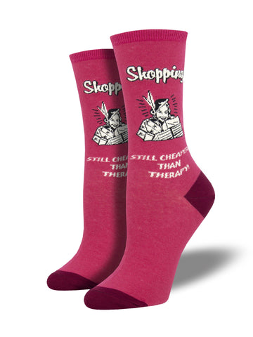 Ladies Retail Therapy Graphic Socks