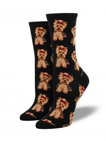 Ladies Yorkies Graphic Socks