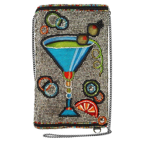 Mary Frances Cocktail Time Beaded-Embroidered Crossbody Phone Bag